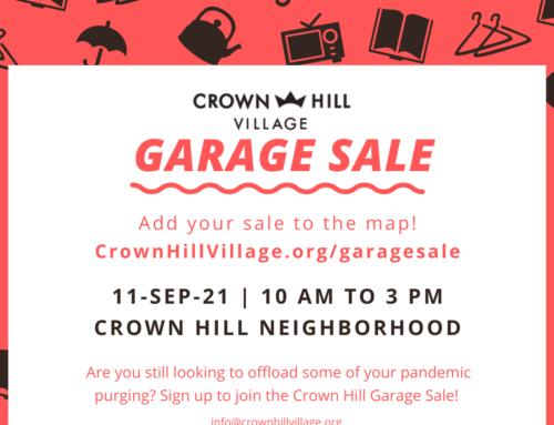 Crown Hill Garage Sale is Back!